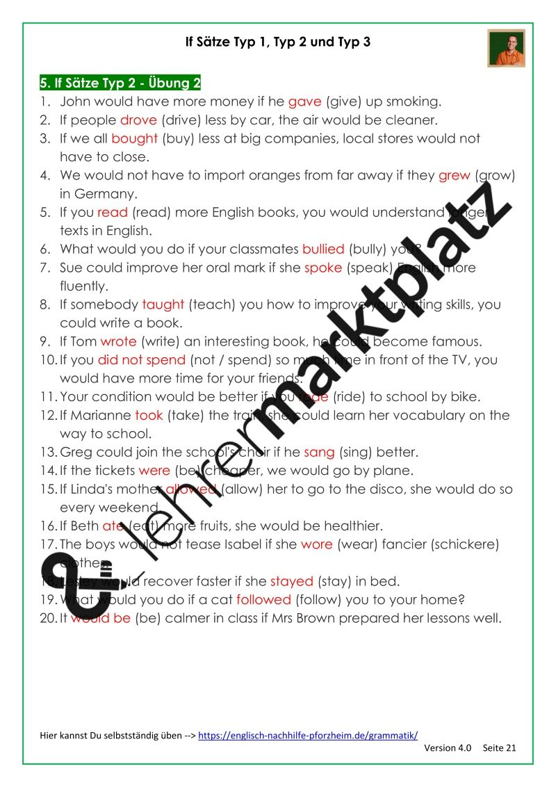 15 Englisch Arbeitsblätter Zum Ausdrucken Mit Lösungen