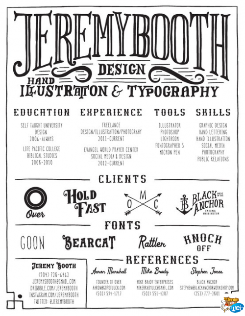 cv design illustr u00e9 typo