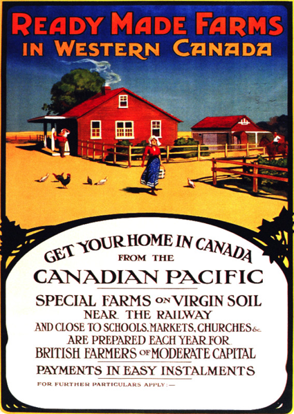 Vintage Canadian Pacific Poster Promoting Settlement In Western Canada Western Canada Canadian Pacific Canadian History