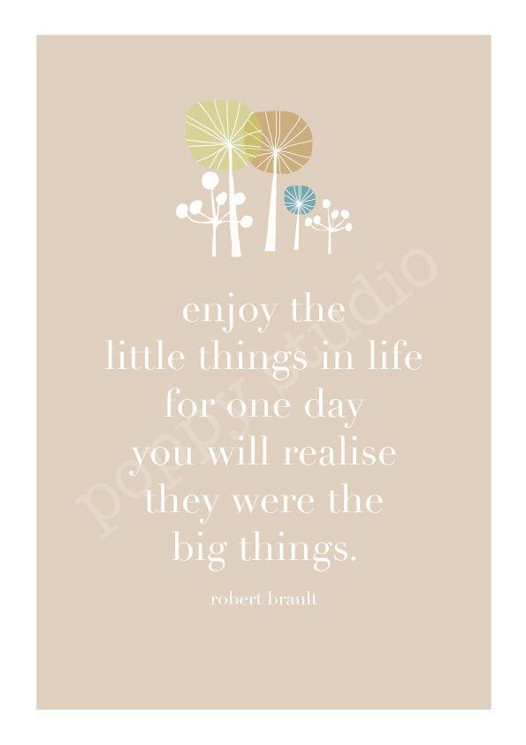 Little things print