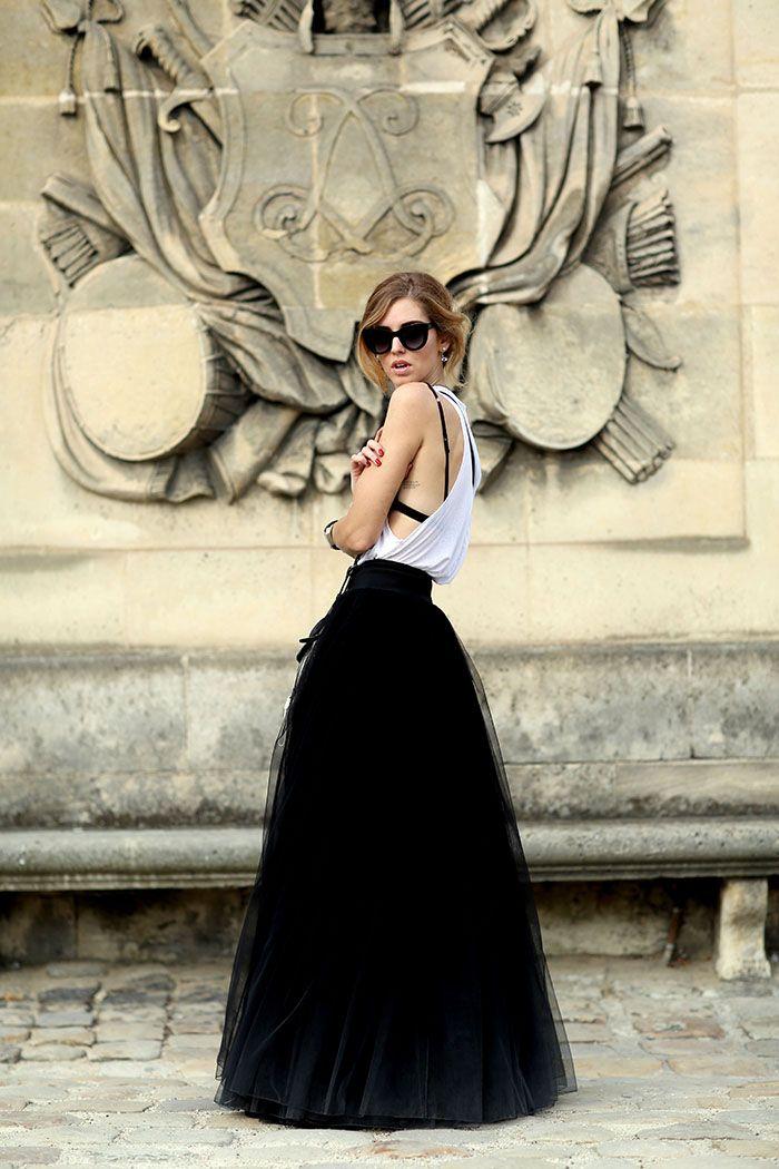 Paris fashionweek wearing Alberta Ferretti