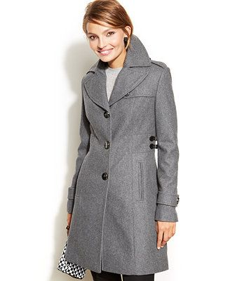 928c5d82d8 Kenneth Cole Reaction Wool-Blend Side-Buckle Walker Coat - my Christmas coat