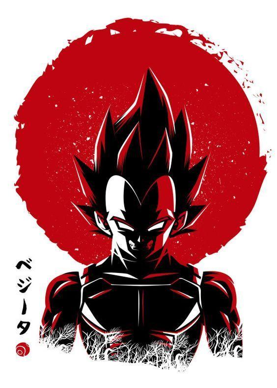 Displate Poster Prince Big Sun Red Sun Shadow Warrior