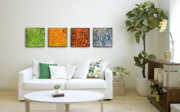Seasons 2 - Chilling Winter Artist - wohnzimmer bilder abstrakt