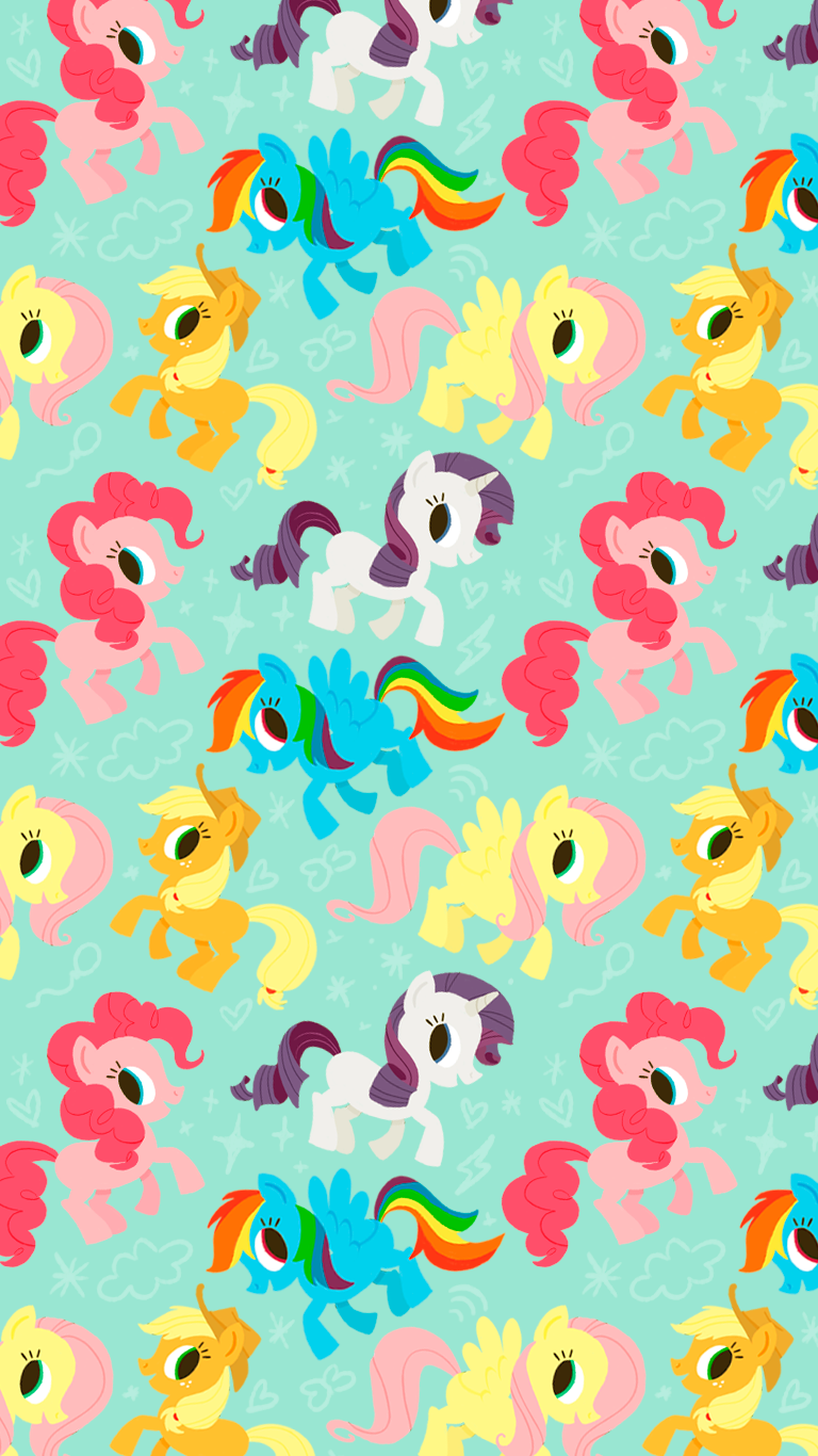 Rainbow iphone wallpaper tumblr - My Little Pony Wallpaper By Vitor Martins