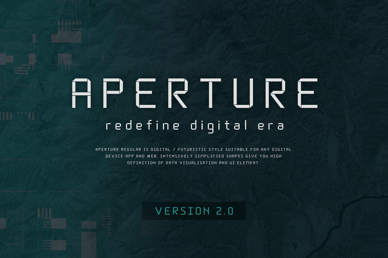 Aperture Reg Ver 2 0 50 Futuristic Fonts Data Visualization Futuristic