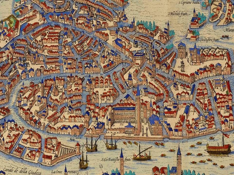 Braun & Hogenberg's 1572 map of Venice | Ancient maps, Art ...