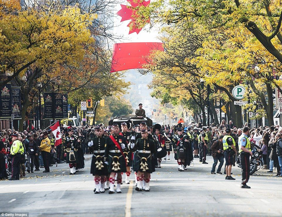 Crowds gather ahead of funeral for canadian soldier killed