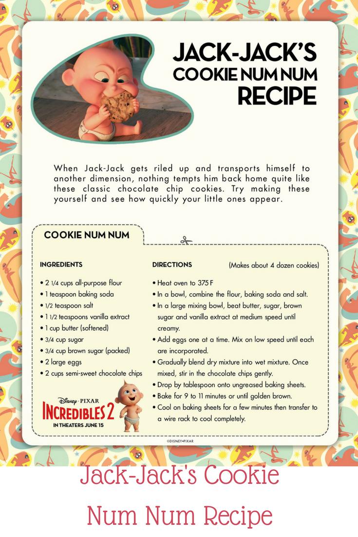 Jack-Jack\'s Cookie Num Num Recipe   Incredibles 2 Coloring Pages ...