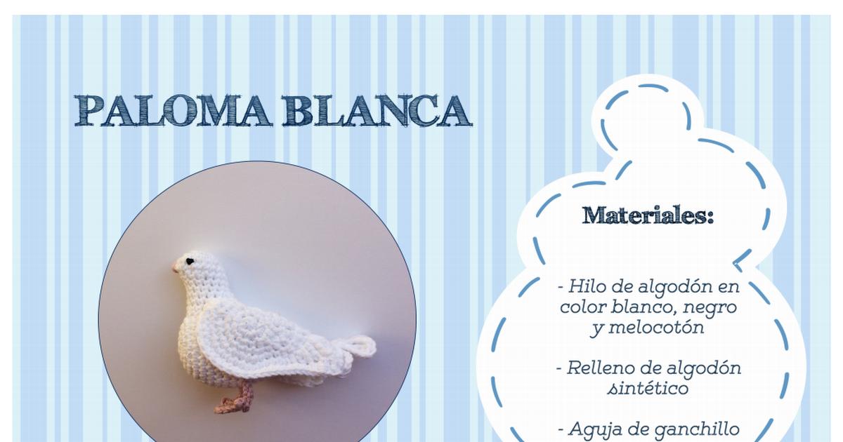 patron paloma blanca -ES- PuntosDeFantasia.pdf | Amigurumis ...