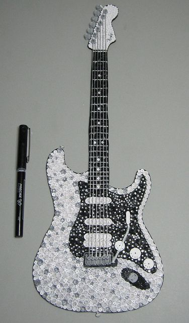 Quilling Fender Guitar  by lkelley1973, via Flickr