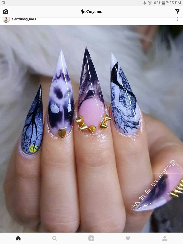 Pin by ♥☆WW★♡ on Halloween Nail Art | Nails, Gothic nails ...