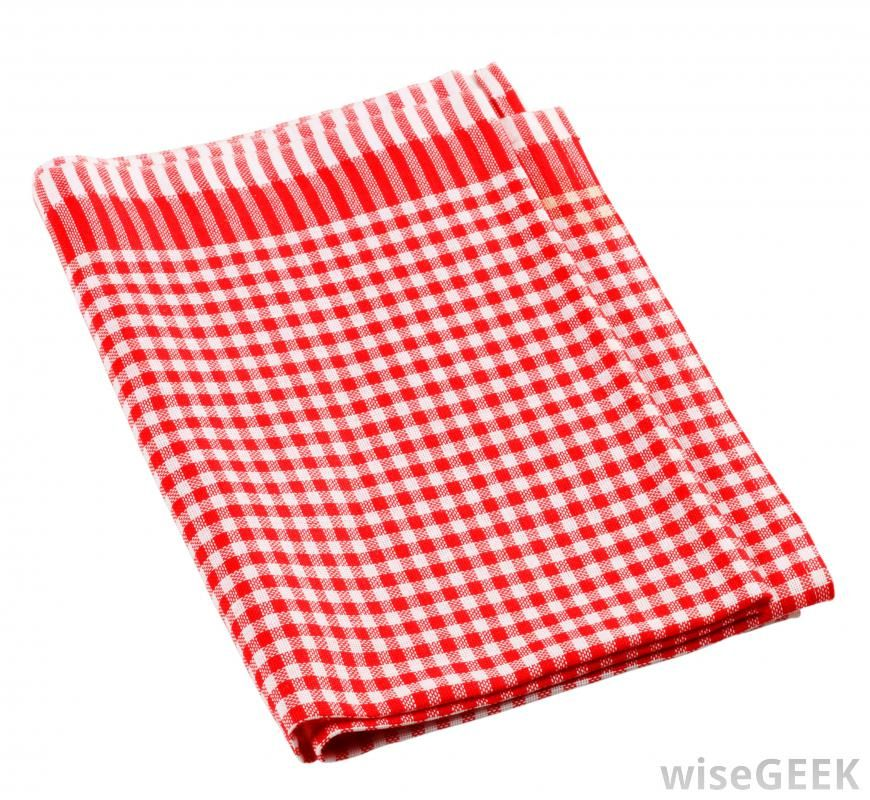 Red And White Kitchen Towel (870×800)