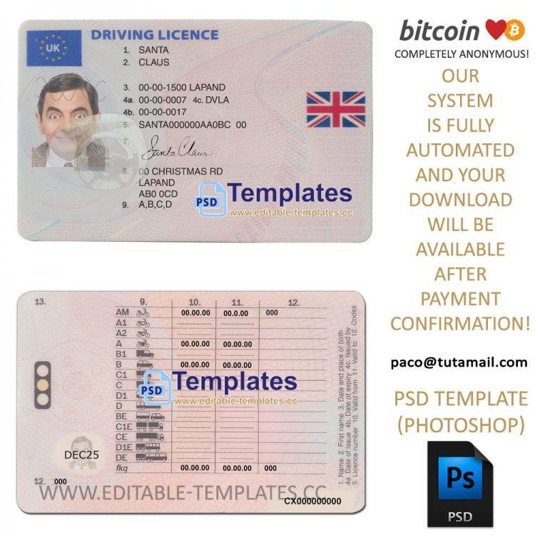 fake id templates uk free download