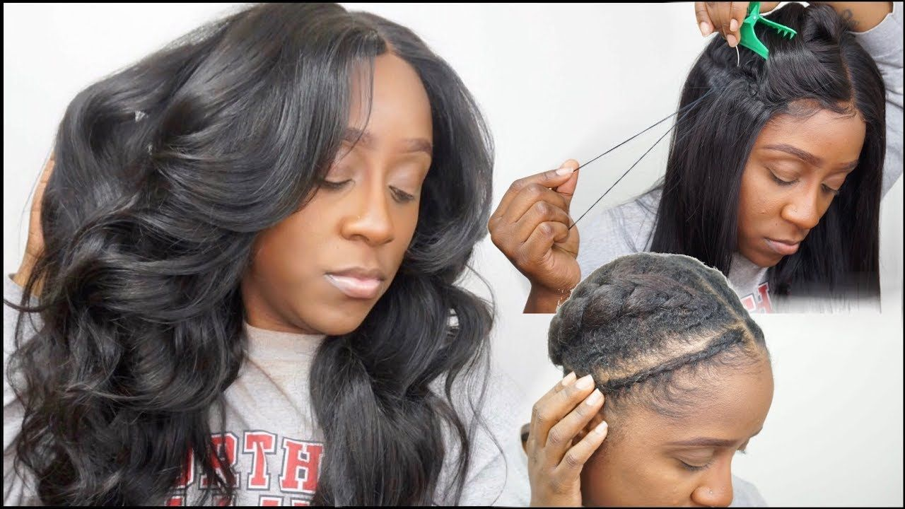 How To Sew Down A Lace Closure Wig Flat Braid Pattern No Leave