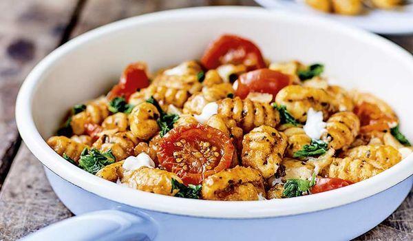 Poelee De Gnocchis Tomates Mozzarella Avec Images Recette