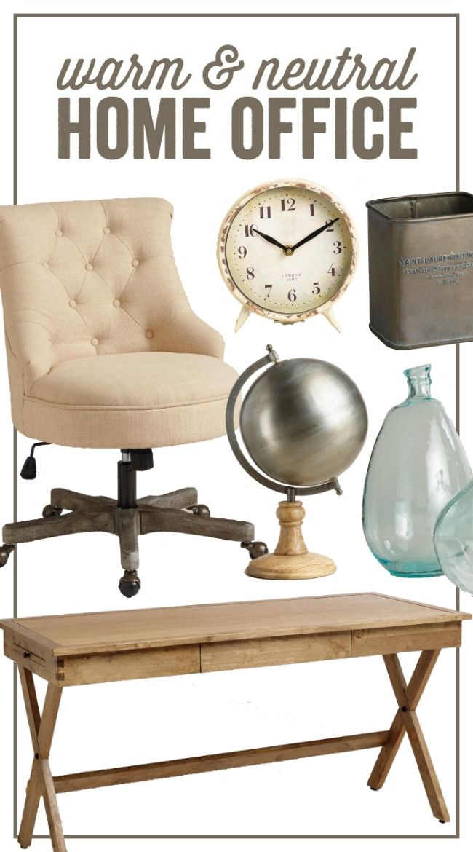 Warm Neutral Home Office Trendsetter Inspiration Home Office Furniture Home Office Space Furniture