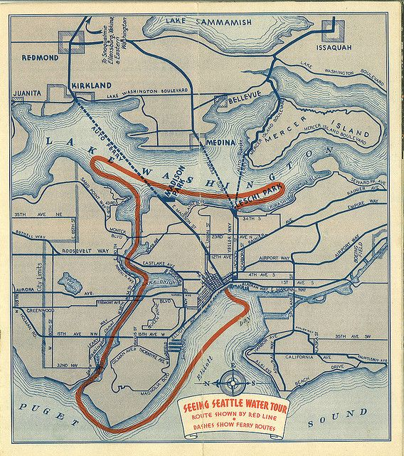 Water Tour Route Map Circa 1937 Map Tours