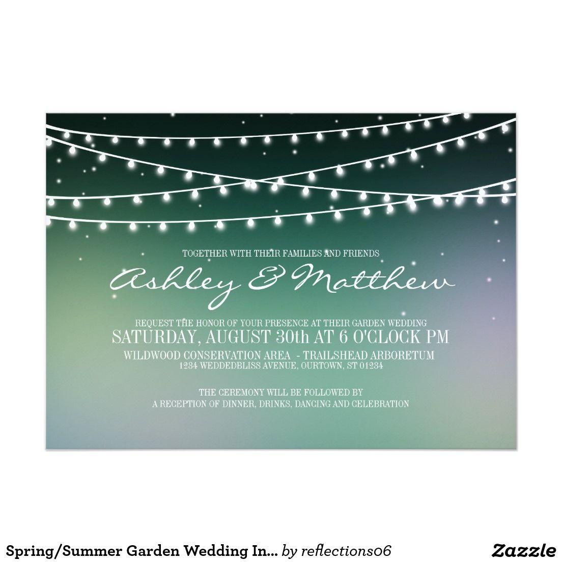 Spring/Summer Garden Wedding Invitation