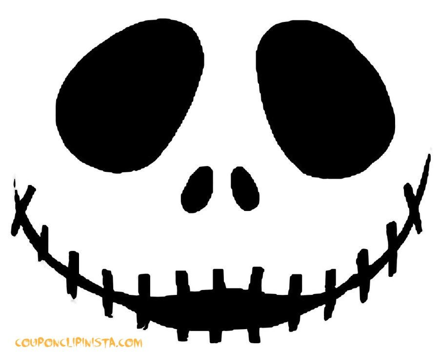 jack skeleton nightmare before christmas pumpkin carving pattern - Carving Templates Halloween Pumpkin