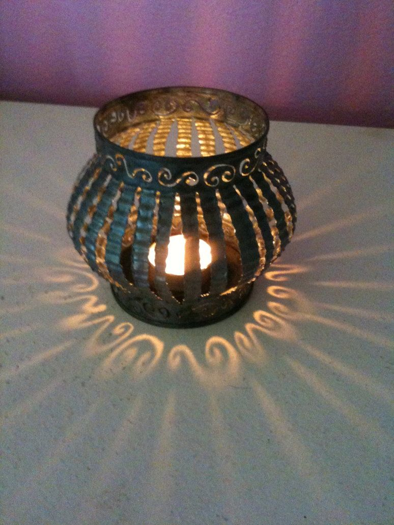 tin can candle holder squished #tincans