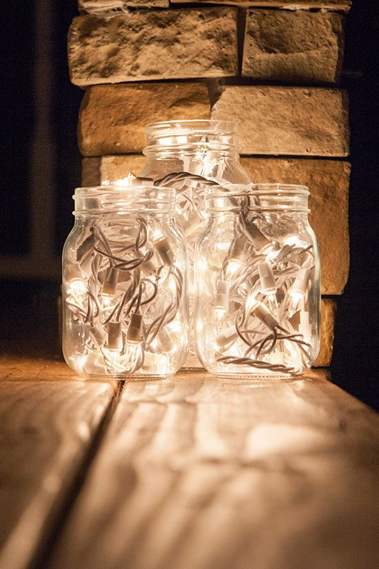 String Lights In A Mason Jar : Get Creative with Mason Jar Lights! Mason jar lighting, Jar lights and Hanging mason jars