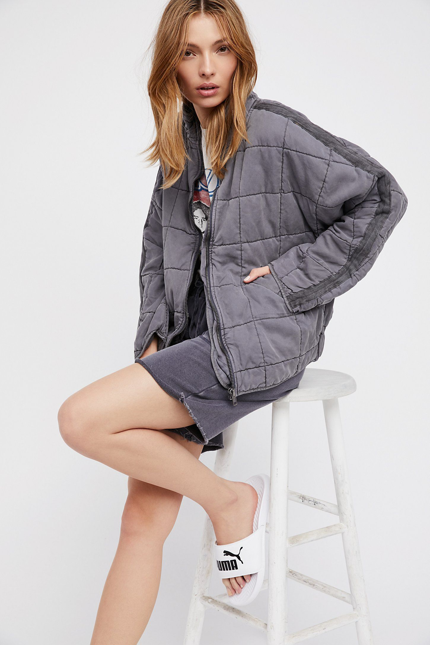 Dolman quilted jacket with images quilted jacket