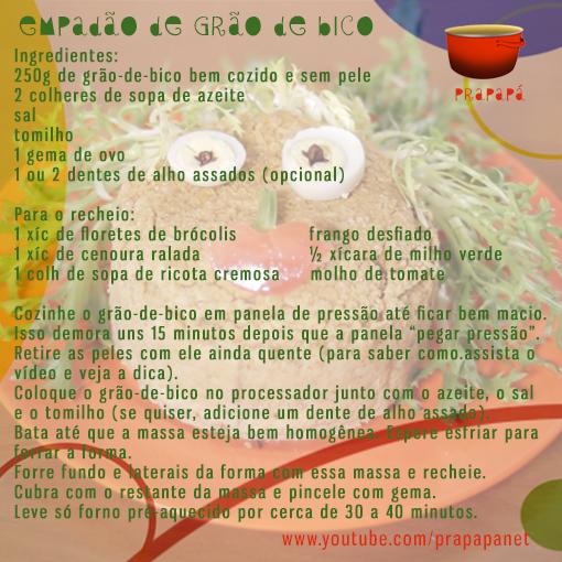 Empadão de Grão-de-Bico Link: https://youtu.be/48ZH4mG6Dbo