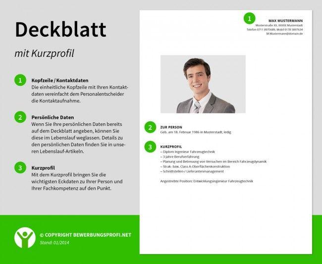 Deckblatt Bewerbung Kurzprofil Bewerbung Infografiken Pinterest