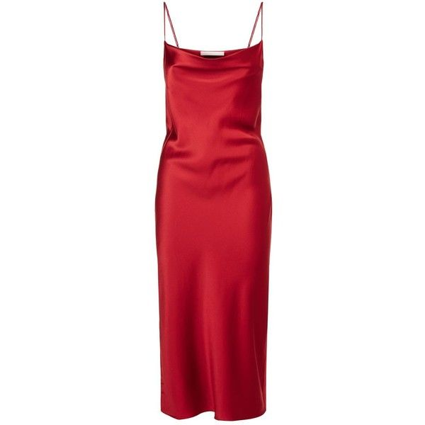 fleur du mal Cowl Neck Silk Slip Dress (35.670 RUB) ❤ liked on Polyvore