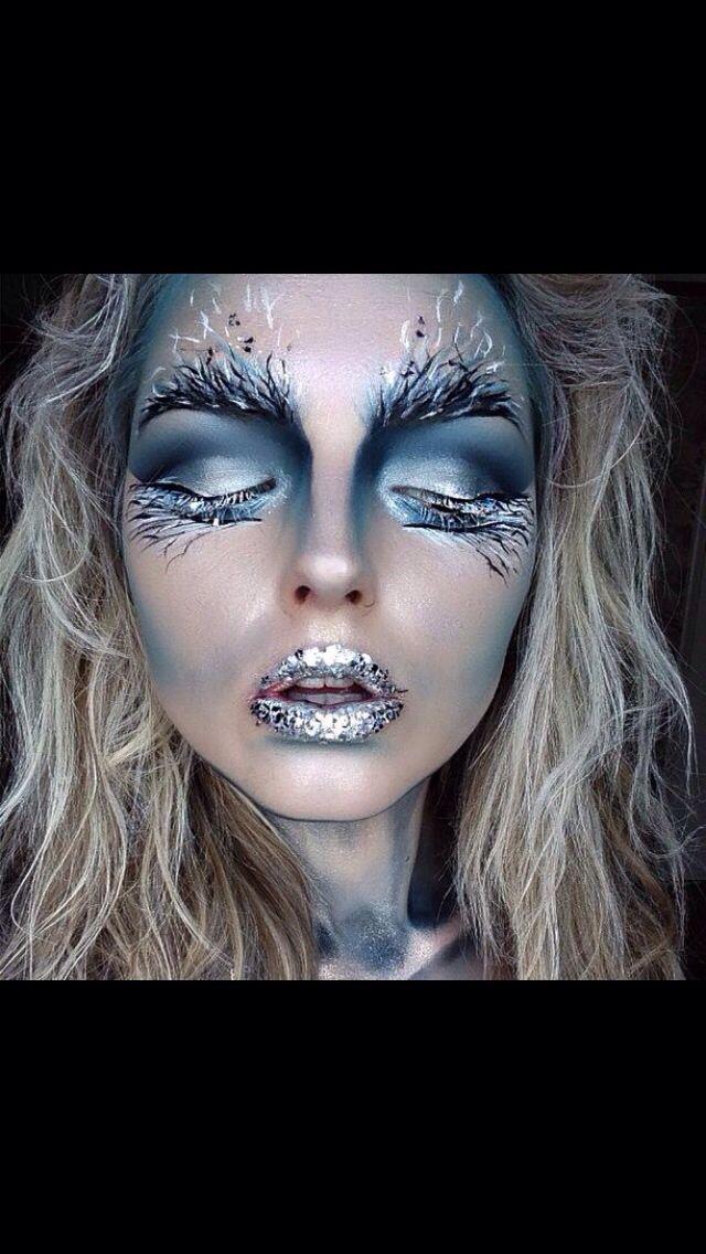 My Halloween ice queen makeup look ) Esame artistico Pinterest
