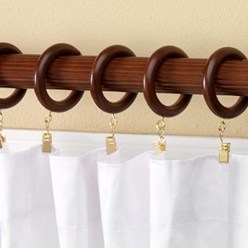 Intercrown 1 3 8 Diameter Decorative Wood Fluted Curtain Rod