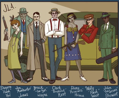 Jazz Age Justice League by Alex Mitchell