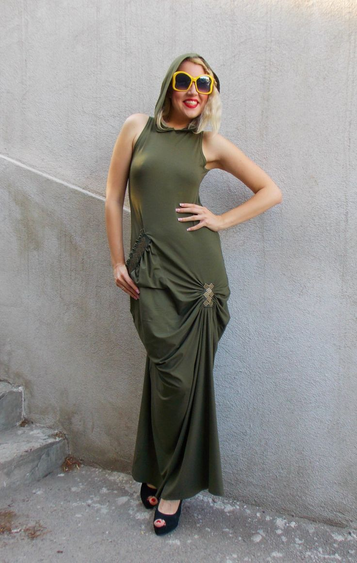 New in our shop khaki maxi dress backless summer dress