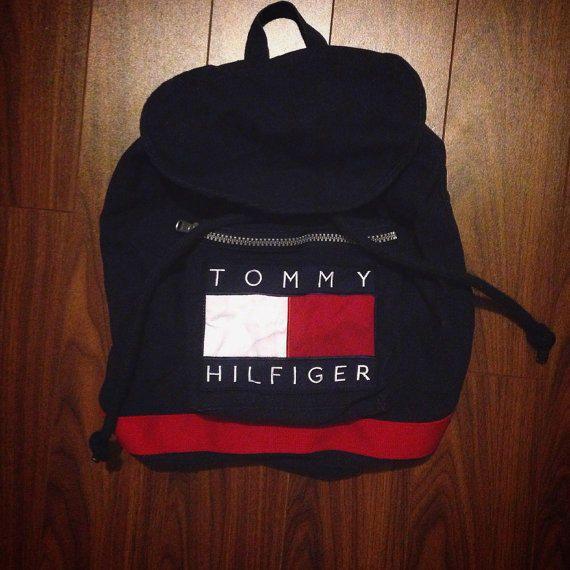 30a75d17 Vintage 1990's Tommy Hilfiger backpack bag school bag @ møe ⛅ fσℓℓσω мє for  more!
