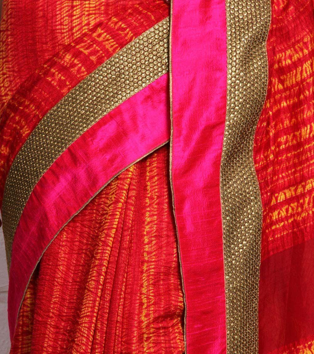 Pure silk saree rust shibori dyed pure silk saree  indian roots  pinterest  pure