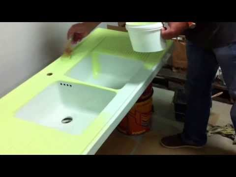 repeindre un vier lavabo baignoire cr dence la peinture r sine youtube maison. Black Bedroom Furniture Sets. Home Design Ideas