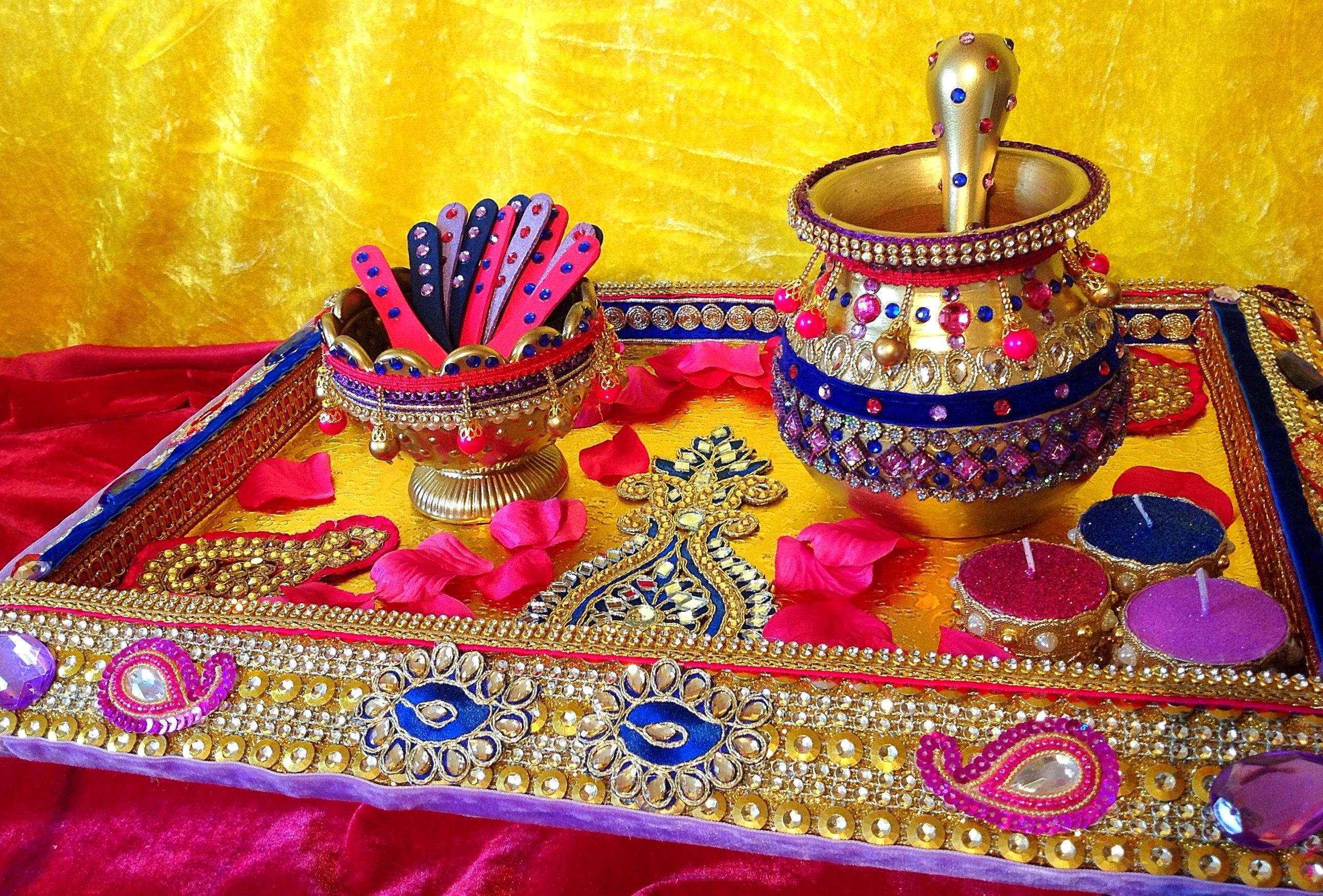 Mehndi Decoration Trays : A gorgeous oil and mehndi tray shadi