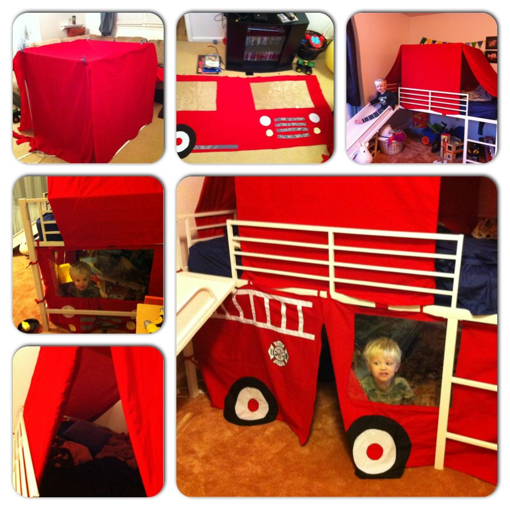 The Fire Truck Bed Tent Firetruck bed, Bed tent, Truck
