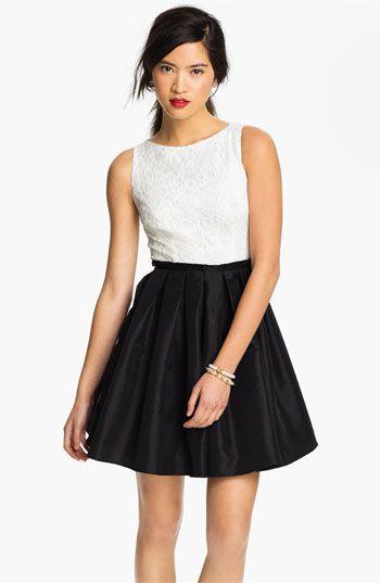 Black and White Junior Dresses