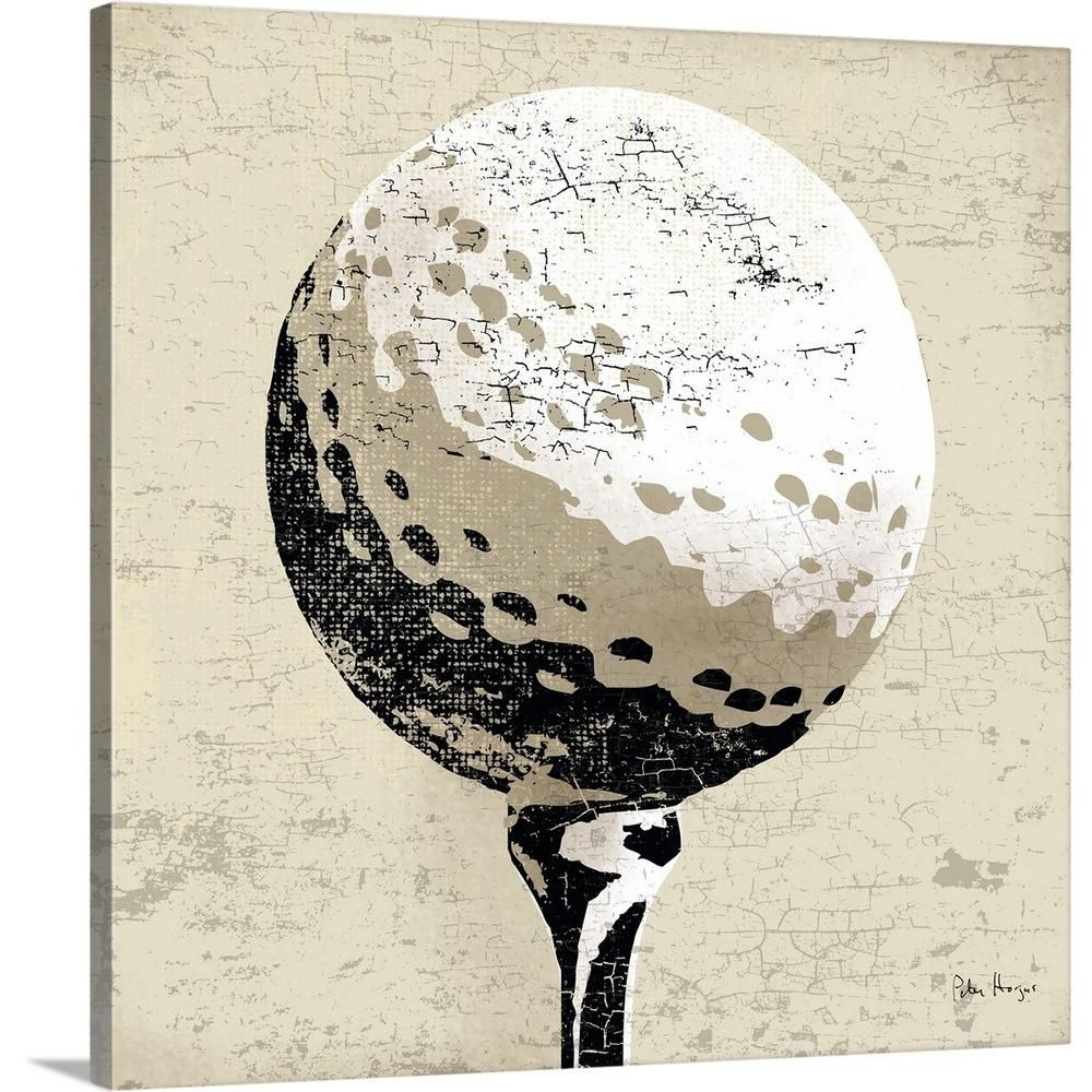Greatbigcanvas Vintage Golfball By Peter Horjus Canvas Wall Art 2381913 24 16x16 The Home Depot Golf Wall Art Abstract Canvas Painting Wall Art Prints