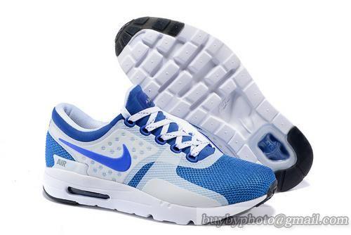 2015 Latest Nike Air Max Zero QS 87 Retro Mens Running Shoes White Blue  cheap Nike Air Max Zero If you want to look 2015 Latest Nike Air Max Zero  QS 87