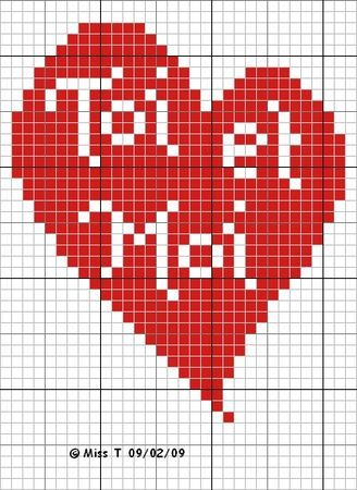 Atout Coeur Stitching Valentines Cross Stitch Heart