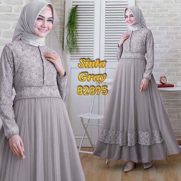 Model Gamis Brokat Terbaru 2019 Untuk Remaja Ragam Muslim Jubah Wanita Model Pakaian Muslim Model Pakaian