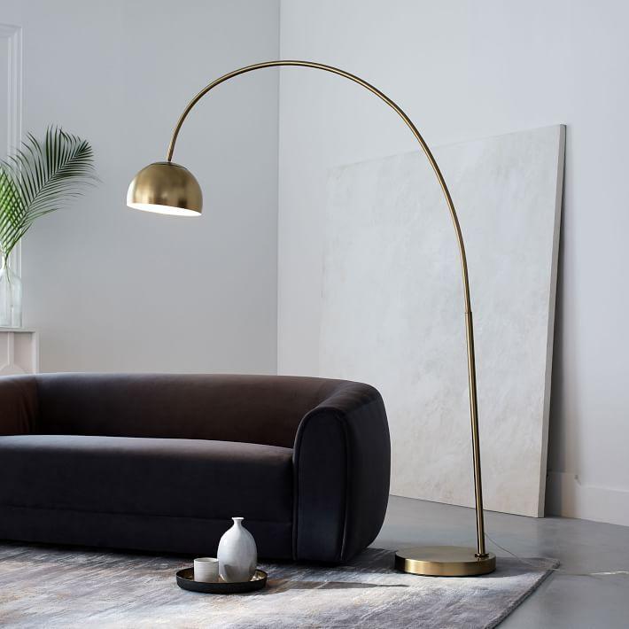 Overarching Metal Shade Floor Lamp · Living Room InspirationFloor ...