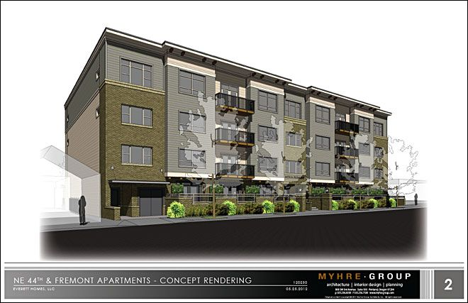 proposed apartment building for Northeast 44th and Fremont. The plans ...