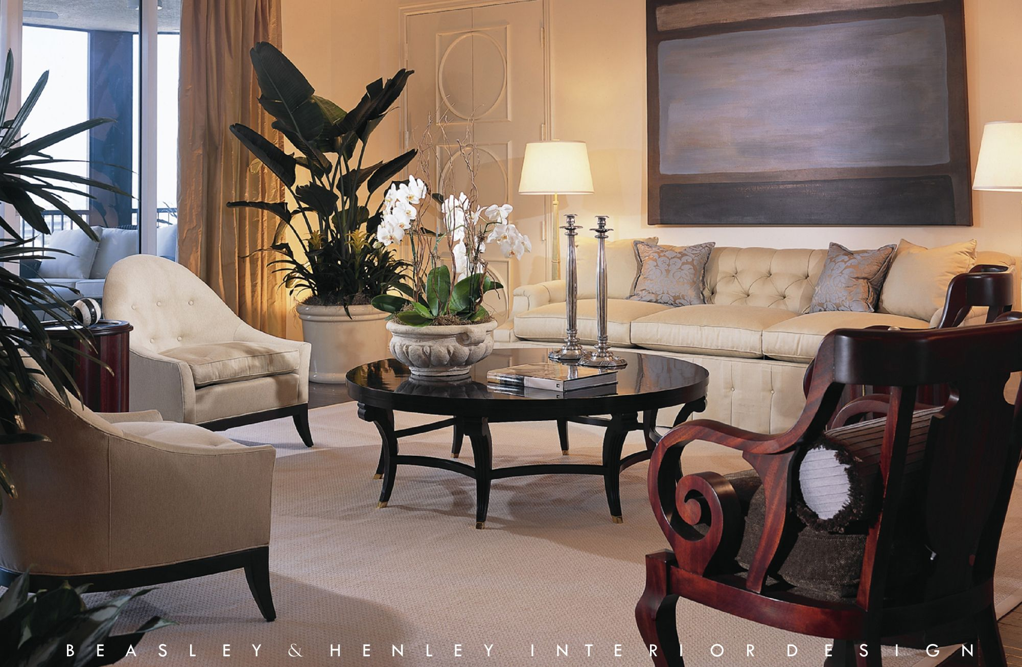 Traditional living room designed by Beasley & Henley Interior Design