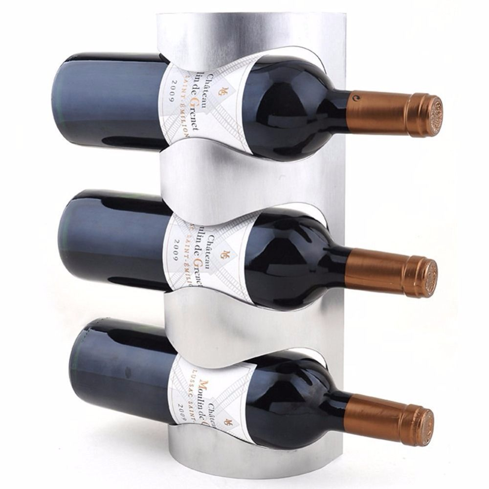 Stainless Steel Wall Mounted wine rack Iron decorative wall ...