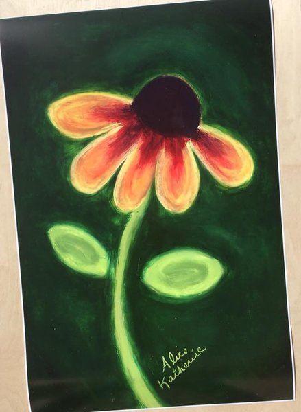 Emerald Daisy Home Decor Poster Art Print 20x30
