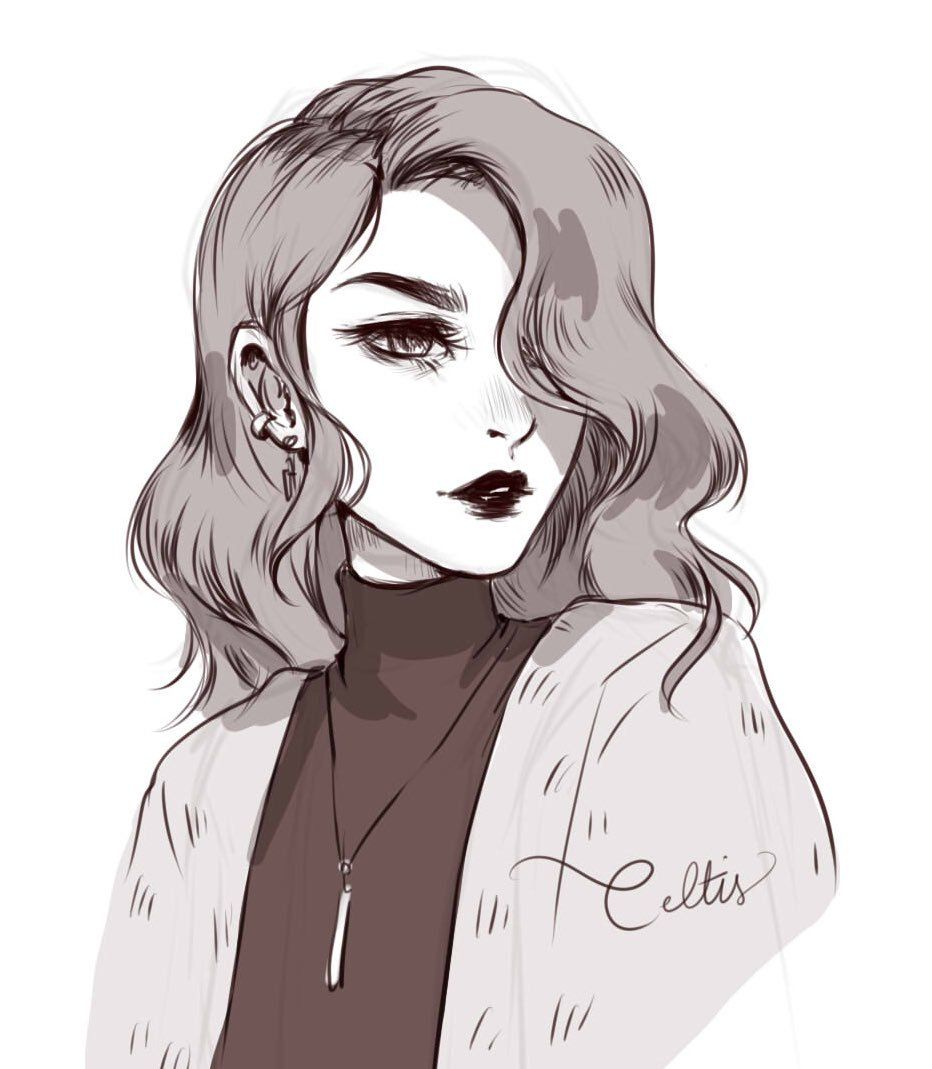 Celtis anime nyc i3 on twitter shes squinting because she probably needs glasses art oc